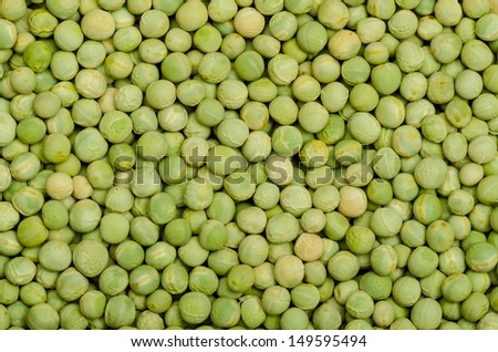 Round green dry peas as a texture - stock photo