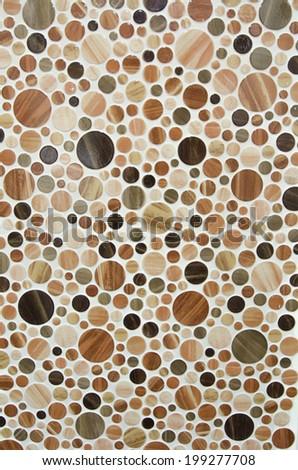 round marble textures, ball tiles  - stock photo