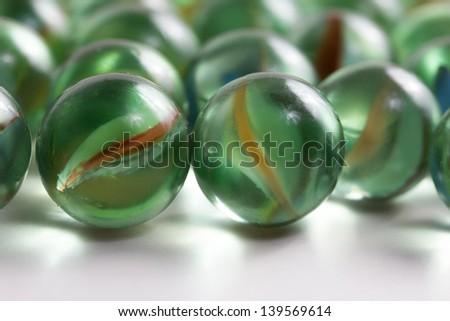 round marbles - stock photo