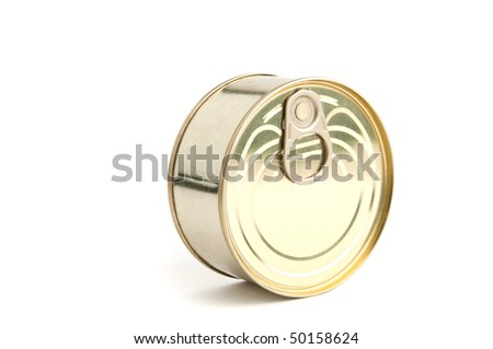round metal can white isolated