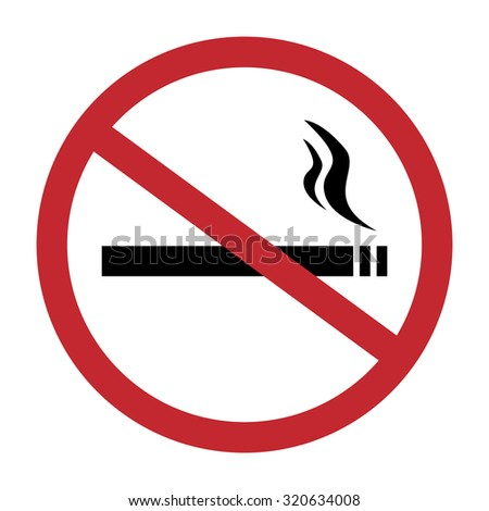 Round no smoking sign, quit smoking, smoke free, no smoking icon raster illustration
