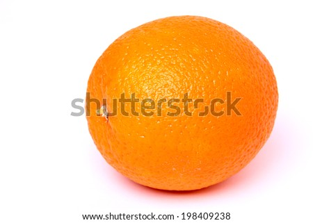 Round orange on white background