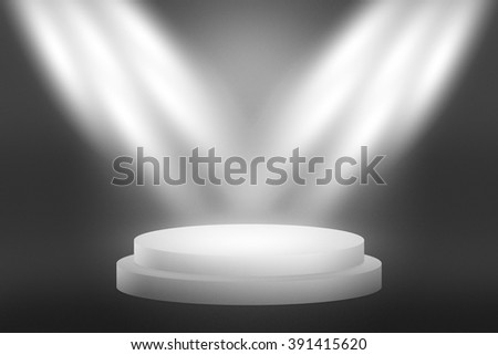 Round Performances Stage Background