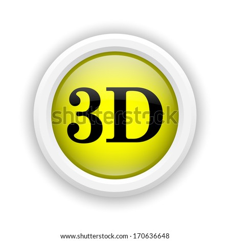 Round plastic icon with black design on yellow background