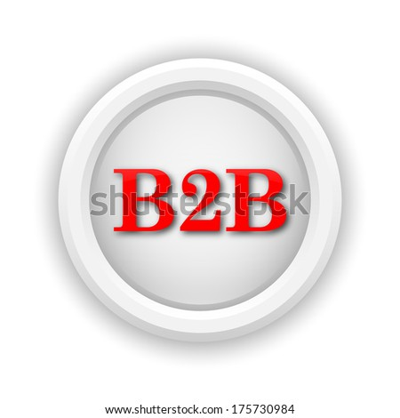 Round plastic icon with red design on white background - stock photo