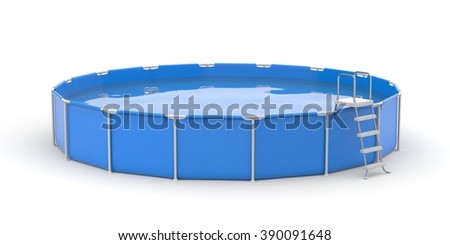 Round pool - stock photo