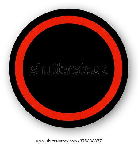 Round red sign template