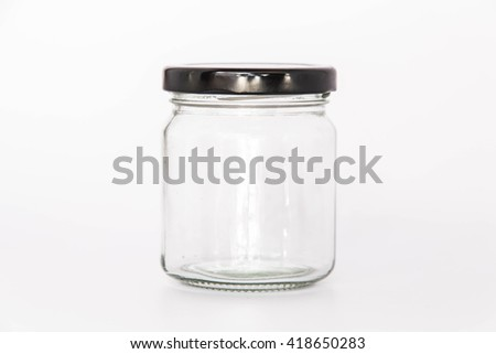 Round Shape Glass Canister isolated on white background