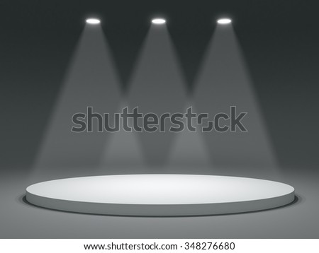 Round shape stage with soffits and light