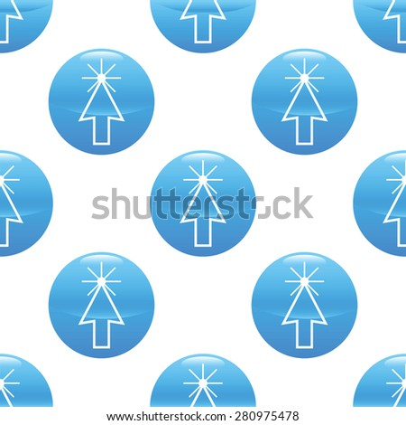 Round sign with image of clicking cursor repeated on white background - stock photo