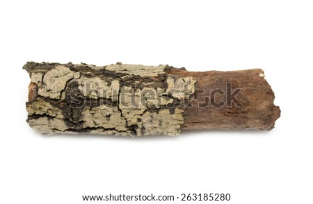 round timber on a white background - stock photo