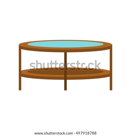 Round trampoline icon in flat style isolated on white background. Entertainment symbol  illustration