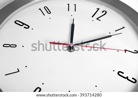Round wall clock, close up - stock photo