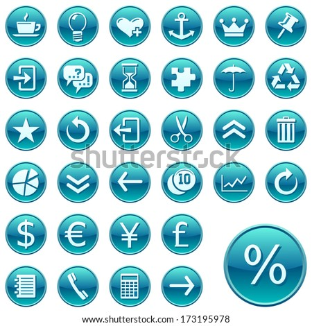 Round web icons. Raster version of EPS image 27976238 - stock photo