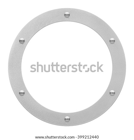 round window or porthole with white field - stock photo