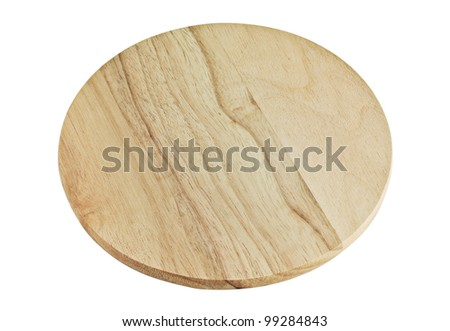 Round Wooden Board isolated on a white background