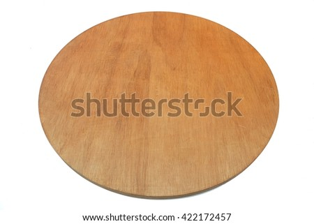Round wooden table that can be rotated.isolated on white background