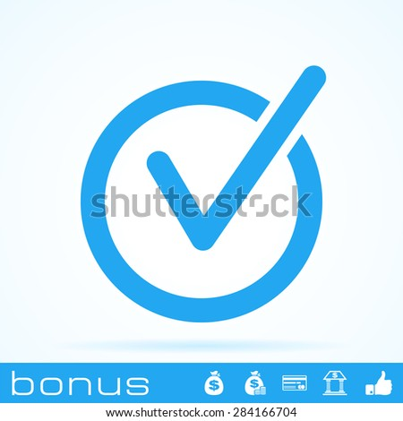 rounded check mark icon - stock photo