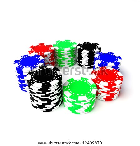 Rounded colored gambling clips
