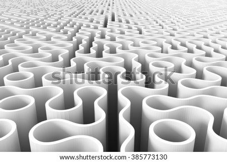 rounded maze structure - stock photo