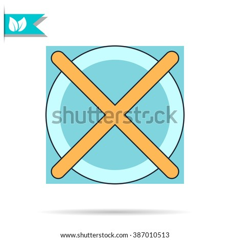 rounded no check mark icon