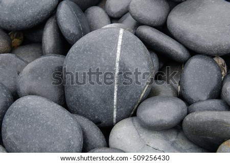 Rounded pebbles at beach