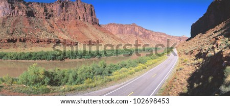 Route 128, Colorado River, View of a Butte