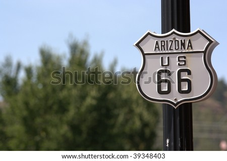 route 66 historical sign, arizona