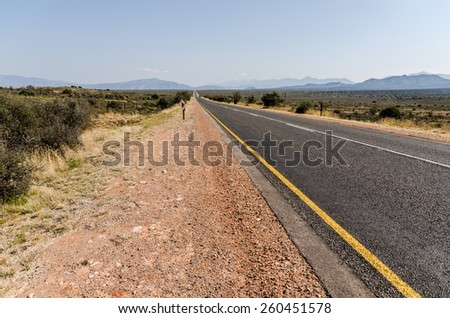 Route 62 in the Karoo South Africa - stock photo