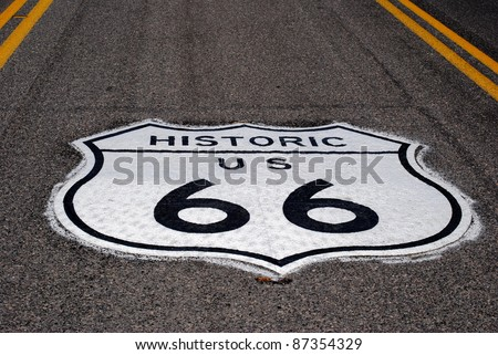 Route 66 in USA - stock photo