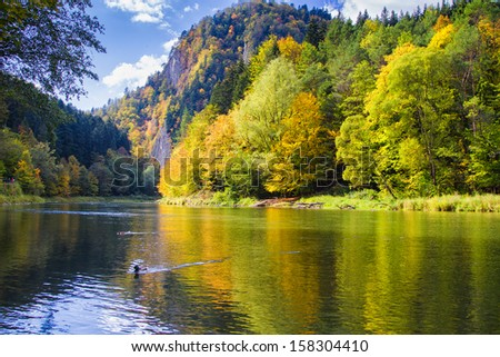 Route of the Three Crowns Sokolica in Pieniny. Poland - stock photo