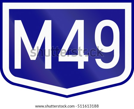 Route shield of a numbered highway in Hungary.