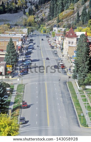 Route 550 Through Little Switzerland in Ouray, Colorado - stock photo