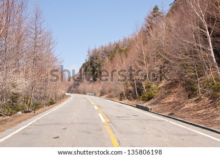 Route to the  fuji mountain in Japan. - stock photo
