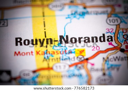 Rouyn Noranda Canada On Map Stock Photo 776582173 Shutterstock