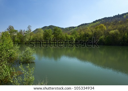 Rovato (Bs),franciacorta,Italy,the ponds at the Mount Orfano