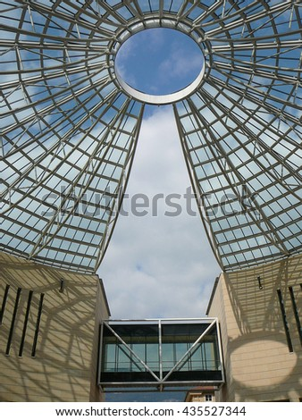 ROVERETO, ITALY - CIRCA APRIL 2016: Museum of Modern and Contemporary Art of Trento and Rovereto - stock photo
