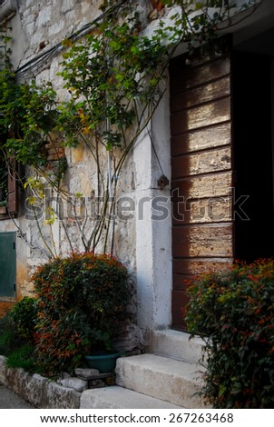 Rovinj old town, Croatia - stock photo