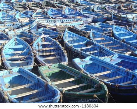 Row Boats, Essaouria - stock photo