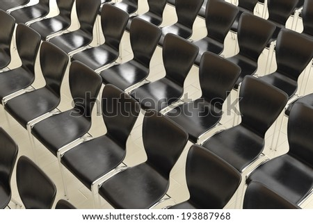 Row of chairs top view as background - stock photo