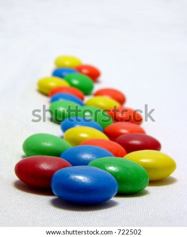 Row of Colorful Chocolate Candy