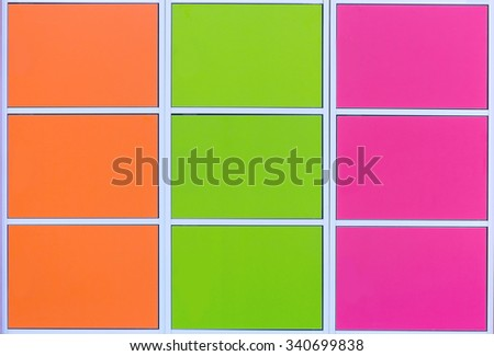 row of colorful lockers - stock photo