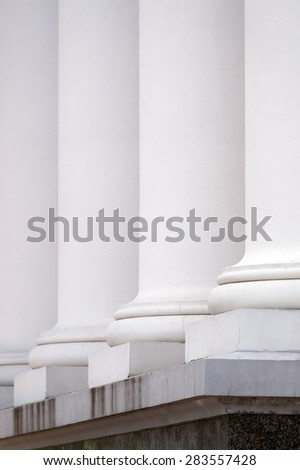 Row of columns building facade.