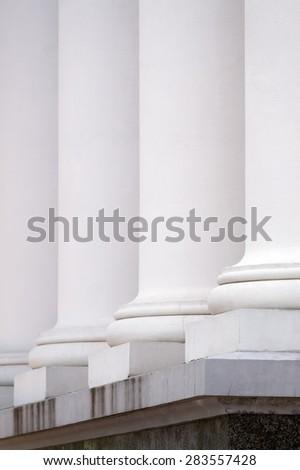 Row of columns building facade. - stock photo
