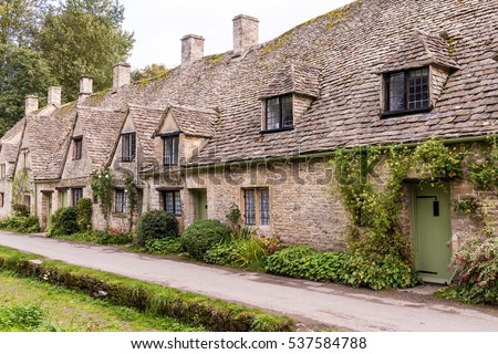 Row of House in Cotswolds, England