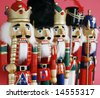 row of nutcrackers - stock photo