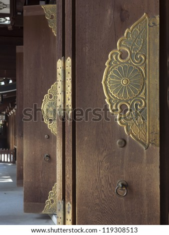 Japanese Temple Door Stock Images Royalty Free Images