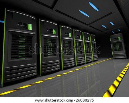 Row of servers - stock photo