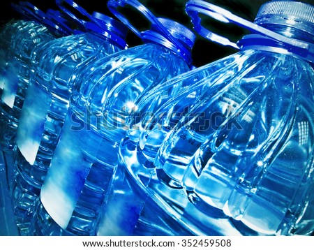 row of the bottled water  - stock photo