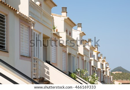 Row of typical spanish apartments